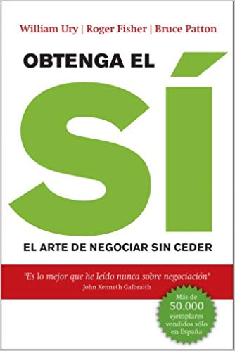 top libros ventas y marketing. Obtenga el SÍ. El arte de negociar sin ceder.